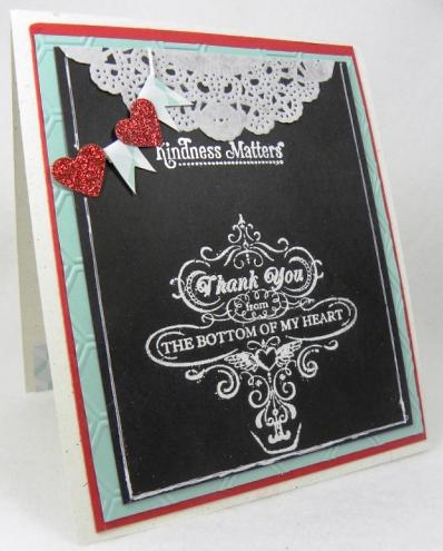 chalkboard thank you card designz by gloria
