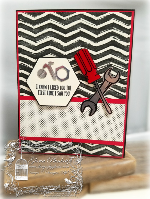 I needed some masculine cards, so I created these four today using the Urban Underground Specialty Designer Series Paper