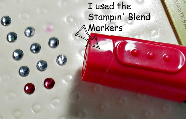 stampin blend markers color rhinestones
