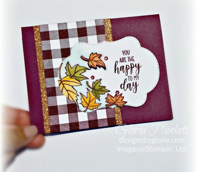 blended seaons - buffalo check - joyous noel glimmer paper stack - stitched seasons framelits dies - stampin up- demonstrator - how to - diy - handmade - homemade - rubber stamping - crafts