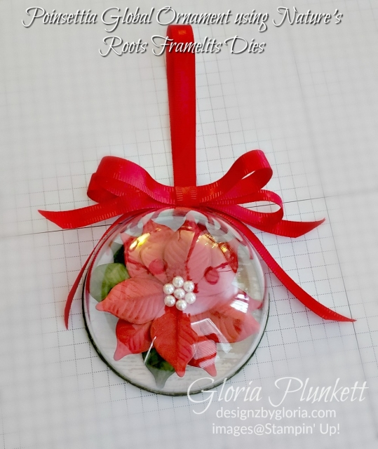 poinsettia globe ornament stampin up- demonstrator - how to - diy - handmade - homemade - rubber stamping – crafts