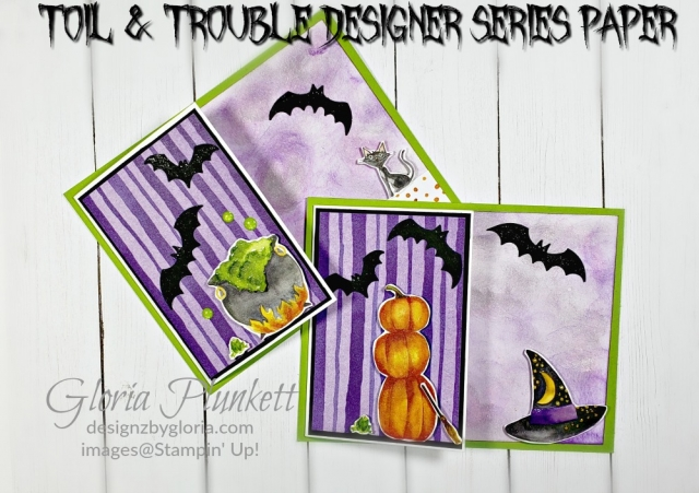Toil & trouble designer series paper - stampin up- demonstrator - how to - diy - handmade - homemade - rubber stamping – crafts