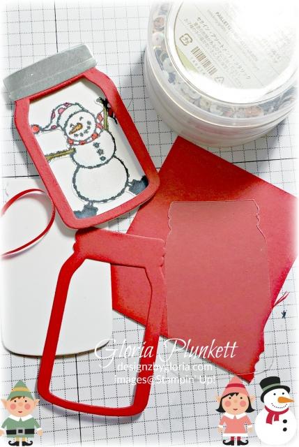 Spirited snowmen everyday jars edgelits stampin' up! demonstrator  how to  diy  handmade  homemade  rubber stamping  crafts cardmaking