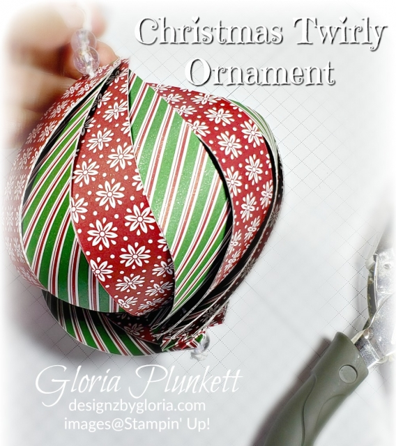 Christmas Twirly Ornament  stampin' up! demonstrator  how to  diy  handmade  homemade  rubber stamping  crafts cardmaking