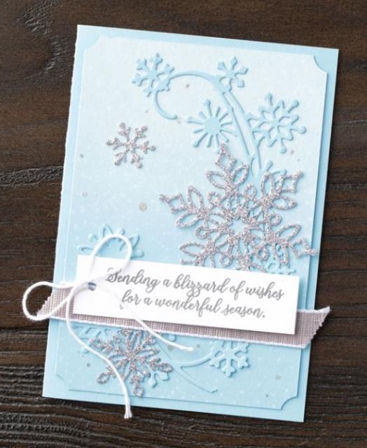 Snowflake showcase stamp set  stampin' up! demonstrator  how to  diy  handmade  homemade  rubber stamping  crafts cardmaking