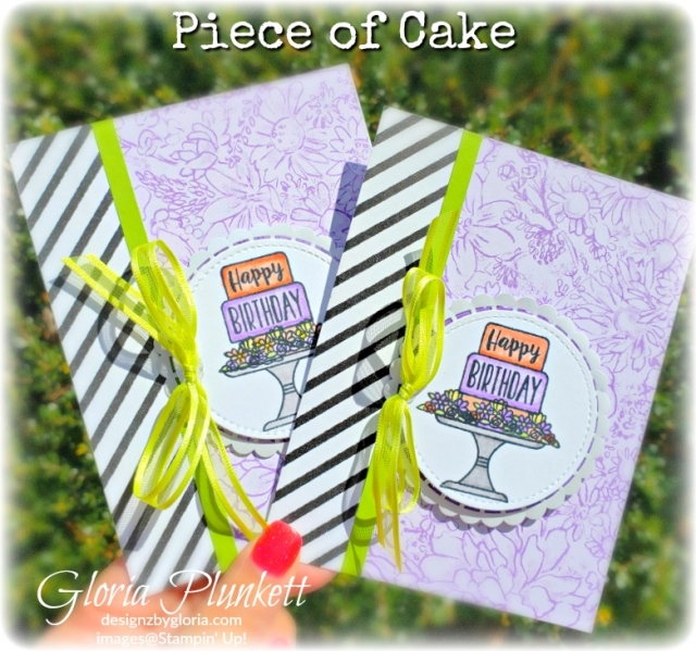 Piece of Cake Stamp Set Botanical butterfly dsp stampin' up! demonstrator how to diy handmade homemade rubber stamping crafts cardmaking