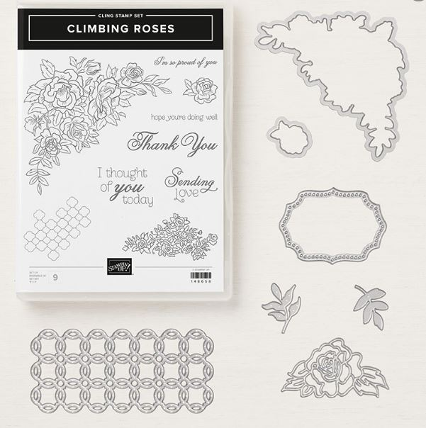 Climbing roses stamp Set all my love designer series paper stampin' up! demonstrator  how to  diy  handmade  homemade  rubber stamping  crafts cardmaking
