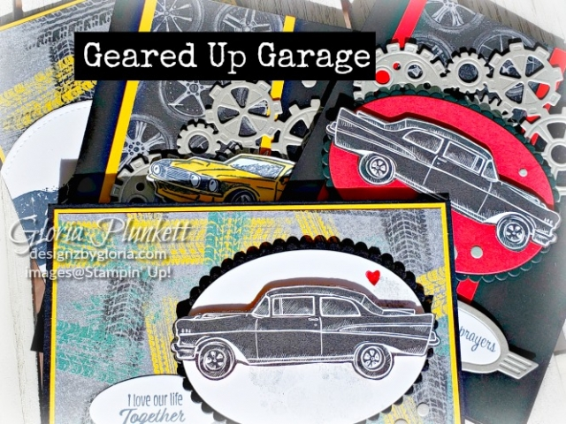 Geared up garage stamp set  stampin' up! demonstrator  how to  diy  handmade  homemade  rubber stamping  crafts cardmaking