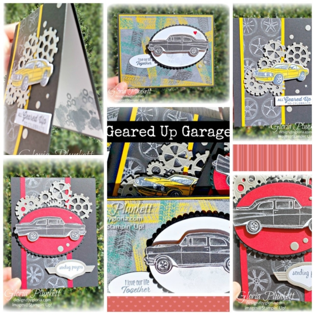 Geared up garage stamp set garage gears thinlits dies stampin' up! demonstrator  how to  diy  handmade  homemade  rubber stamping  crafts cardmaking