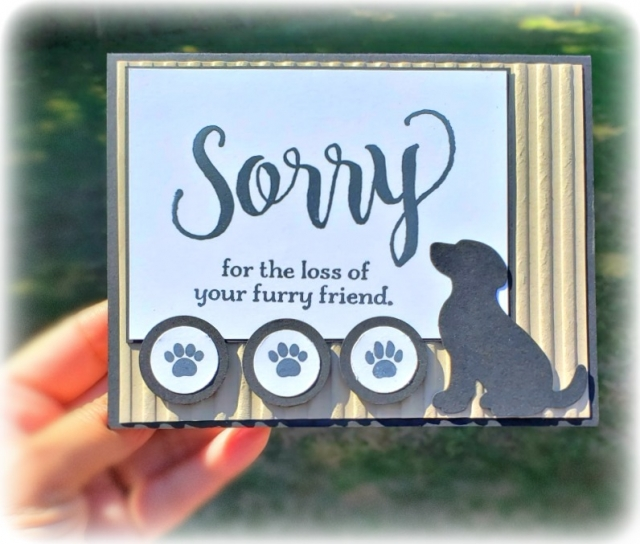 """Sorry for everything stamp set, happy tails stamp set, nine lives stamp set, dog punch, cat punch, ¾"""" circle punch, 1"""" circle punch, tuxedo memento black ink, crumb cake cardstock, basic black cardstock, stampin' trimmer whisper white Cardstock  dimensionals multipurpose liquid glue take your pick, SNAIL adhesive stampin' up! demonstrator how to diy handmade  homemade  rubber stamping  crafts cardmaking"""