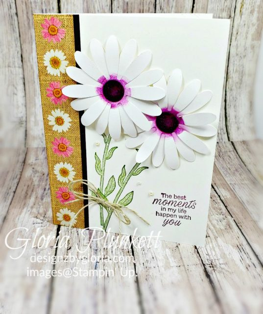 Pressed petals specialty designer series paper, old olive classic ink, daisy lane stamp set, thick whisper white cardstock, whisper white cardstock, thick whisper white cardstock, blackberry bliss classic ink, stampin' trimmer whisper white Cardstock  dimensionals multipurpose liquid glue take your pick, SNAIL adhesive stampin' up! demonstrator how to diy handmade  homemade  rubber stamping  crafts cardmaking