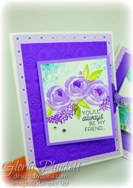 Flip, flap, fold, splitcoaststampers, beautiful friendship stamp set, young at heart stamp, delightful tag topper punch, tin tile 3d embossing folder, gorgeous grape cardstock, highland heather cardstock, woven threads dsp, basic rhinestone jewels, highland heather blends, old olive blends, pretty peacock, real red blends, crumb cake blends, ivory blends, soft suede blends, memento black ink, thick whisper white cardstock, whisper white cardstock, soft suede cardstock, , stampin' trimmer, very vanilla cardstock, crumb cake Cardstock, dimensionals, paper snips, multipurpose liquid glue take your pick, SNAIL adhesive stampin' up! demonstrator how to diy handmade homemade rubber stamping crafts cardmaking