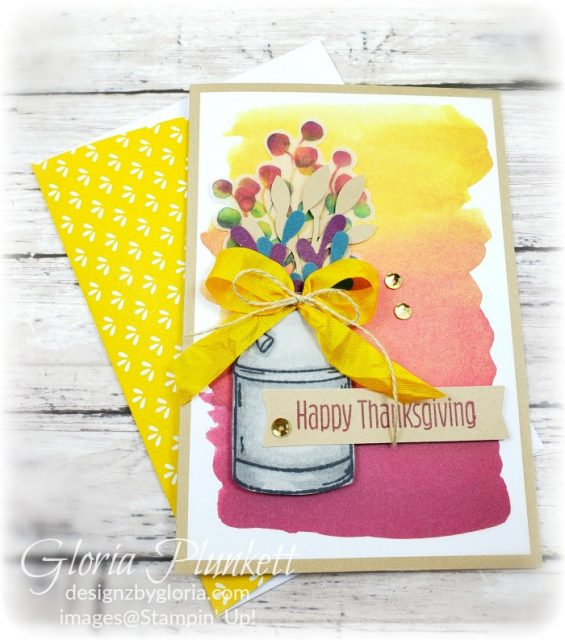 """August 2019 paper pumpkin, Country home stamp set, itty bitty birthday stamp set, glitter enamel dots, splitcoaststampers, mango melody cardstock, mango melody 3/8"""" crinkled seam binding ribbon, perfect peacock cardstock, crumb cake cardstock, memento tuxedo black ink, black stazon ink,    thick whisper white cardstock, whisper white cardstock,  stamparatus, aqua painters, blender pens, clear wink of stella, stampin' trimmer, very vanilla cardstock, sponge daubers,  dimensionals, paper snips, multipurpose liquid glue take your pick, SNAIL adhesive, stampin' up! Demonstrator, how to, diy handmade, homemade, rubber stamping, greeting card, crafts cardmaking"""