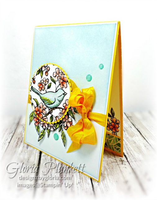 Free As A Bird stamp set, Bird ballad trinkets, Stitched lace dies, bird ballad designer series paper, splitcoaststampers, daffodil delight cardstock, Glitter enamel dots, basic rhinestone jewels, clear faceted gems, memento black ink, thick whisper white cardstock, whisper white cardstock, stampin' trimmer, very vanilla cardstock, sponge daubers, dimensionals, paper snips, multipurpose liquid glue take your pick, SNAIL adhesive stampin' up! demonstrator how to diy handmade homemade rubber stamping crafts cardmaking