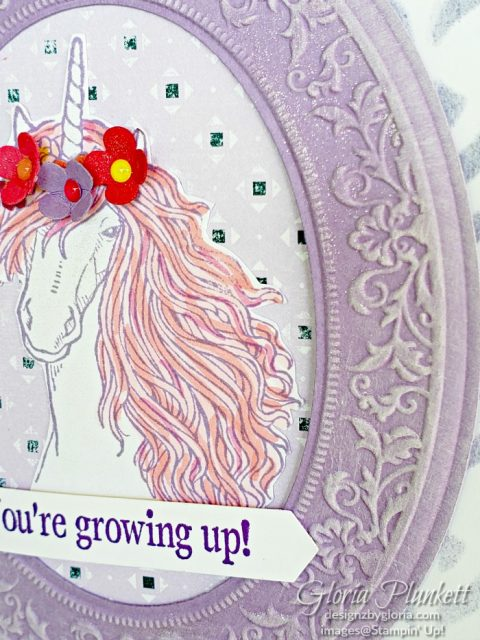 Leave a little sparkle stamp set, heirloom frames dies, heirloom 3d frames embossing folders, glitter enamel dots, splitcoaststampers, whisper white craft ink, gorgeous grape cardstock, highland heather cardstock,  woven threads designer series paper, basic pattern decorative masks,  memento tuxedo black ink, black stazon ink,    thick whisper white cardstock, whisper white cardstock,  stamparatus, aqua painters, blender pens, clear wink of stella, stampin' trimmer, very vanilla cardstock, sponge daubers,  dimensionals, paper snips, multipurpose liquid glue take your pick, SNAIL adhesive, stampin' up! Demonstrator, how to, diy handmade, homemade, rubber stamping, greeting card, crafts cardmaking
