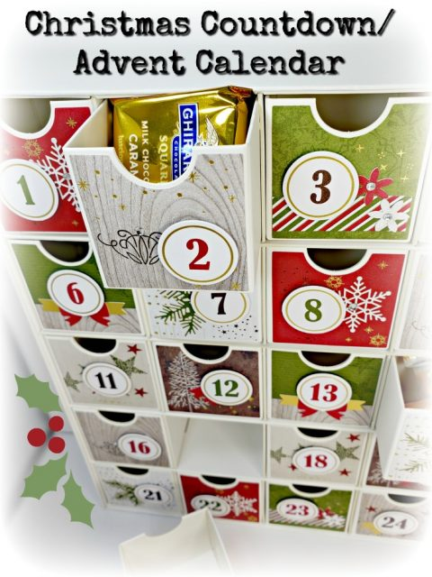 christmas countdown advent calendar stampin up