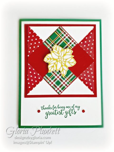 Shaded spruce classic ink, stampin sponge, greatest part of christmas Stamp set, shaded spruce cardstock, cherry cobbler cardstock, wrapped in plaid 6 x 6 designer series paper, thick whisper cardstock, silicone craft mat, grid paper, gold delicata reinker, braided linen trim, come to gather designer series paper, splitcoaststampers, come to gathered ribbon combo pack, Tags & More Accessory kit, every season punch pack, bronze delicata ink pad, black stampin dimensionals, detailed trio punch, basic black cardstock, old olive classic ink, memento tuxedo black ink, black stazon ink, thick whisper white cardstock, whisper white cardstock, stamparatus, aqua painters, blender pens, clear wink of stella, stampin' trimmer, very vanilla cardstock, sponge daubers, dimensionals, paper snips, multipurpose liquid glue take your pick, SNAIL adhesive, stampin' up! Demonstrator, how to, diy handmade, homemade, rubber stamping, greeting card, crafts cardmaking