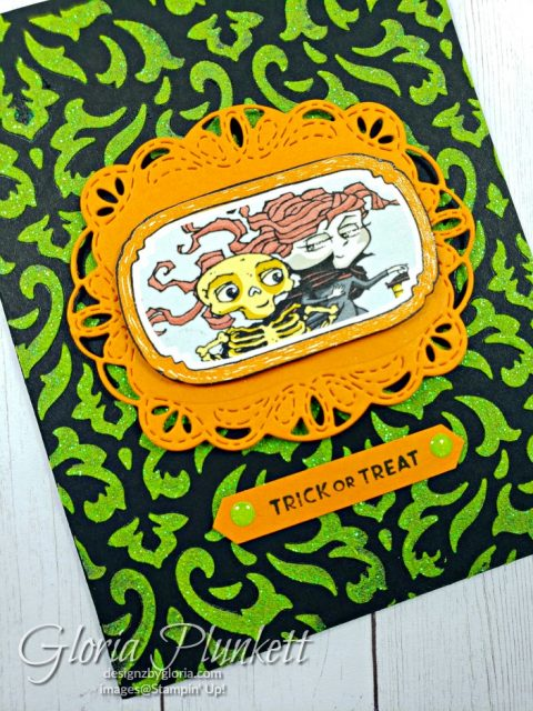 Spooktacular bash Stamp set, stitched labels dies, pumpkin pie cardstock, basic black cardstock, glitter enamel dots, classic label punch, shimmery white embossing paste, palette knives, silicone craft mat, grid paper, granny apple green reinker, linen thread, metallic pearls, itty bitty greetings stamp set, splitcoaststampers, merry merlot cardstock, come to gathered ribbon combo pack, tags & feathers elements, black stampin dimensionals, detailed trio punch, basic black cardstock, old olive classic ink, memento tuxedo black ink, black stazon ink, thick whisper white cardstock, whisper white cardstock, stamparatus, aqua painters, blender pens, clear wink of stella, stampin' trimmer, very vanilla cardstock, sponge daubers, dimensionals, paper snips, multipurpose liquid glue take your pick, SNAIL adhesive, stampin' up! Demonstrator, how to, diy handmade, homemade, rubber stamping, greeting card, crafts cardmaking