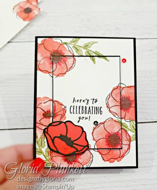 """Painted poppies stamp set, gold glitter enamel dots, cherry cobbler cardstock, mossy meadow cardstock, night before christmas designer series paper, tear n tape, 1"""" circle punch, simply scored, paper trimmer, Paper Snips, Take Your Pick Tool, Stampin' Sponges, White Chalk Marker, Stitched Rectangle Dies, sip & celebrate dies, Grid Paper, stampin sponge, perfectly plaid Stamp set, truck ride dies, shimmery crystal effects, braided linen ribbon, to every season stamp set, every season punch, gold foil paper, shaded spruce cardstock, cherry cobbler cardstock, wrapped in plaid 6 x 6 designer series paper, thick whisper cardstock, silicone craft mat, grid paper, gold delicata reinker, polka dot tulle ribbon, come to gather designer series paper, splitcoaststampers, come painters, blender pens, clear wink of stella, stampin' trimmer, very vanilla cardstock, sponge daubers, dimensionals, paper snips, multipurpose liquid glue take your pick, SNAIL adhesive, stampin' up! Demonstrator, how to, diy handmade, homemade, rubber stamping, greeting card, crafts cardmaking to gathered ribbon combo pack, Tags & More Accessory kit, every season punch pack, bronze delicata ink pad, black stampin dimensionals, detailed trio punch, basic black cardstock, old olive classic ink, memento tuxedo black ink, black stazon ink, thick whisper white cardstock, whisper white cardstock, stamparatus, aqua painters"""