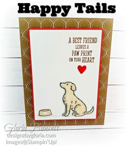 "Happy tails stamp set, soft suede cardstock, aqua painter, silicone craft mat, white embossing powder, versamark ink pad, heat tool, watercolor paper, crumb cake cardstock, tear n tape, 1"" circle punch, simply scored, paper trimmer, Paper Snips, Take Your Pick Tool, Stampin' Sponges, White Chalk Marker, Stitched Rectangle Dies, sip & celebrate dies, Grid Paper, stampin sponge, perfectly plaid Stamp set, truck ride dies, shimmery crystal effects, braided linen ribbon, to every season stamp set, every season punch, gold foil paper, shaded spruce cardstock, cherry cobbler cardstock, wrapped in plaid 6 x 6 designer series paper, thick whisper acardstock, silicone craft mat, grid paper, gold delicata reinker, polka dot tulle ribbon, come to gather designer series paper, splitcoaststampers, come painters, blender pens, clear wink of stella, stampin' trimmer, very vanilla cardstock, sponge daubers, dimensionals, paper snips, multipurpose liquid glue take your pick, SNAIL adhesive, stampin' up! Demonstrator, how to, diy handmade, homemade, rubber stamping, greeting card, crafts cardmaking to gathered ribbon combo pack, Tags & More Accessory kit, every season punch pack, bronze delicata ink pad, black stampin dimensionals, detailed trio punch, basic black cardstock, old olive classic ink, memento tuxedo black ink, black stazon ink, thick whisper white cardstock, whisper white cardstock, stamparatus, aqua painters"