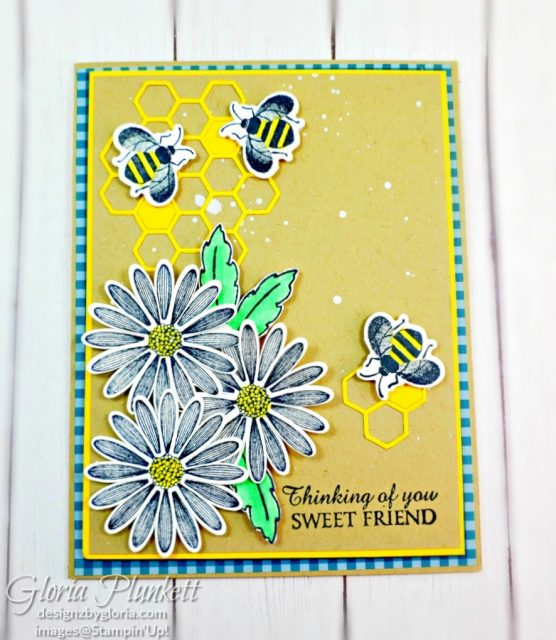 "Honey bee set, detailed bee dies, crushed curry cardstock, golden honey specialty designer series paper, gold glitter enamel dots, real red cardstock, crumb cake cardstock, tear n tape, 1"" circle punch, simply scored, paper trimmer, Paper Snips, Take Your Pick Tool, Stampin' Sponges, White Chalk Marker, Stitched Rectangle Dies, sip & celebrate dies, Grid Paper, stampin sponge, perfectly plaid Stamp set, truck ride dies, shimmery crystal effects, braided linen ribbon, to every season stamp set, every season punch, gold foil paper, shaded spruce cardstock, cherry cobbler cardstock, wrapped in plaid 6 x 6 designer series paper, thick whisper acardstock, silicone craft mat, grid paper, gold delicata reinker, polka dot tulle ribbon, come to gather designer series paper, splitcoaststampers, come painters, blender pens, clear wink of stella, stampin' trimmer, very vanilla cardstock, sponge daubers, dimensionals, paper snips, multipurpose liquid glue take your pick, SNAIL adhesive, stampin' up! Demonstrator, how to, diy handmade, homemade, rubber stamping, greeting card, crafts cardmaking to gathered ribbon combo pack, Tags & More Accessory kit, every season punch pack, bronze delicata ink pad, black stampin dimensionals, detailed trio punch, basic black cardstock, old olive classic ink, memento tuxedo black ink, black stazon ink, thick whisper white cardstock, whisper white cardstock, stamparatus, aqua painters"
