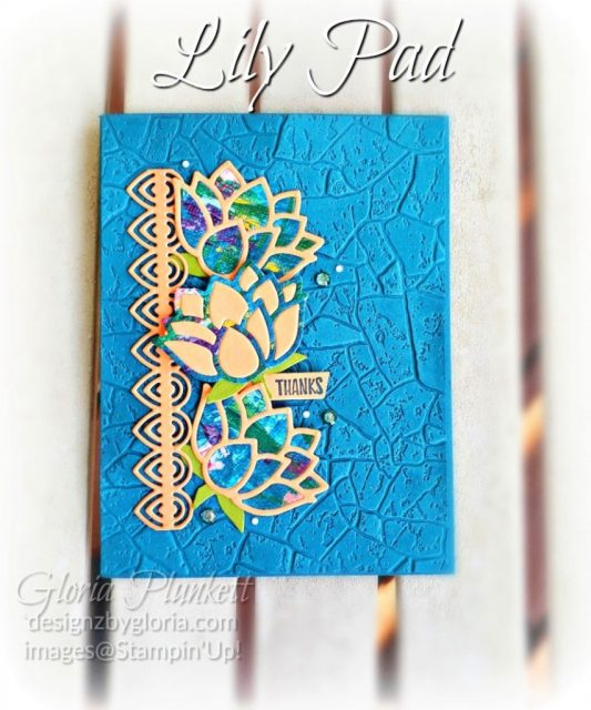 "Lovely Lily pad stamp set, lily pad dies, pretty peacock cardstock, soft suede cardstock, aqua painter, silicone craft mat, white embossing powder, versamark ink pad, heat tool, watercolor paper, crumb cake cardstock, tear n tape, 1"" circle punch, simply scored, paper trimmer, Paper Snips, Take Your Pick Tool, Stampin' Sponges, White Chalk Marker, Stitched Rectangle Dies, sip & celebrate dies, Grid Paper, stampin sponge, perfectly plaid Stamp set, truck ride dies, shimmery crystal effects, braided linen ribbon, to every season stamp set, every season punch, gold foil paper, shaded spruce cardstock, cherry cobbler cardstock, wrapped in plaid 6 x 6 designer series paper, thick whisper acardstock, silicone craft mat, grid paper, gold delicata reinker, polka dot tulle ribbon, come to gather designer series paper, splitcoaststampers, come painters, blender pens, clear wink of stella, stampin' trimmer, very vanilla cardstock, sponge daubers, dimensionals, paper snips, multipurpose liquid glue take your pick, SNAIL adhesive, stampin' up! Demonstrator, how to, diy handmade, homemade, rubber stamping, greeting card, crafts cardmaking to gathered ribbon combo pack, Tags & More Accessory kit, every season punch pack, bronze delicata ink pad, black stampin dimensionals, detailed trio punch, basic black cardstock, old olive classic ink, memento tuxedo black ink, black stazon ink, thick whisper white cardstock, whisper white cardstock, stamparatus, aqua painters"