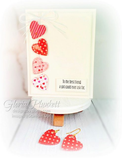From My Heart Earrings & Card