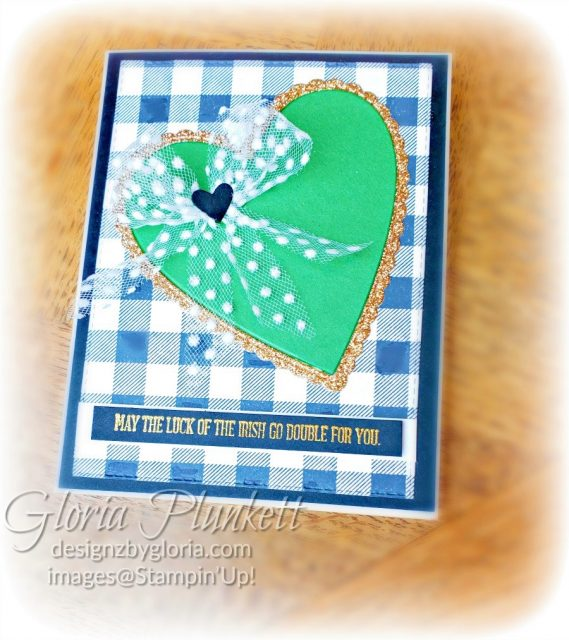 Stitched Be Mine Happy St. Patrick's Day Card