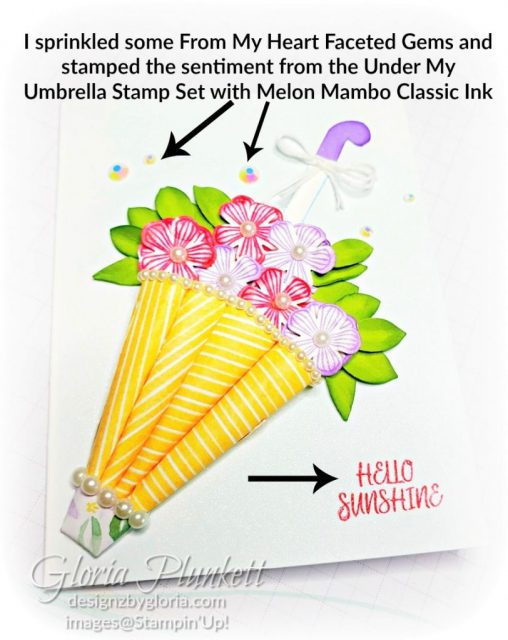 """Under my umbrella stamp set, best dressed designer series paper, umbrella builder punch, leaf punch, small blooms punch, thoughtful blooms stamp set, highland heather cardstock, granny apple green cardstock, stitched so sweetly dies, rectangle stitched framelits, 5/8"""" whisper white flax ribbon, real red rhinestones, silicone craft mat, white embossing powder, versamark ink pad, heat tool, watercolor paper, crumb cake cardstock, tear & tape, 1"""" circle punch, simply scored, paper trimmer, Paper Snips, Take Your Pick Tool, Stampin' Sponges, White Chalk Marker, Stitched Rectangle Dies, sip & celebrate dies, Grid Paper, stampin sponge, perfectly plaid Stamp set, truck ride dies, shimmery crystal effects, braided linen ribbon, to every season stamp set, every season punch, gold foil paper, shaded spruce cardstock, cherry cobbler cardstock, wrapped in plaid 6 x 6 designer series paper, thick whisper cardstock, silicone craft mat, grid paper, polka dot tulle ribbon, come to gather designer series paper, splitcoaststampers, come painters, blender pens, clear wink of stella, stampin' trimmer, very vanilla cardstock, sponge daubers, dimensionals, paper snips, multipurpose liquid glue take your pick, SNAIL adhesive, stampin' up! Demonstrator, how to, diy handmade, homemade, rubber stamping, greeting card, crafts cardmaking to gathered ribbon combo pack, Tags & More Accessory kit, black stampin dimensionals, detailed trio punch, basic black cardstock, old olive classic ink, memento tuxedo black ink, black stazon ink, thick whisper white cardstock, whisper white cardstock, stamparatus, aqua painters, simply shammy"""