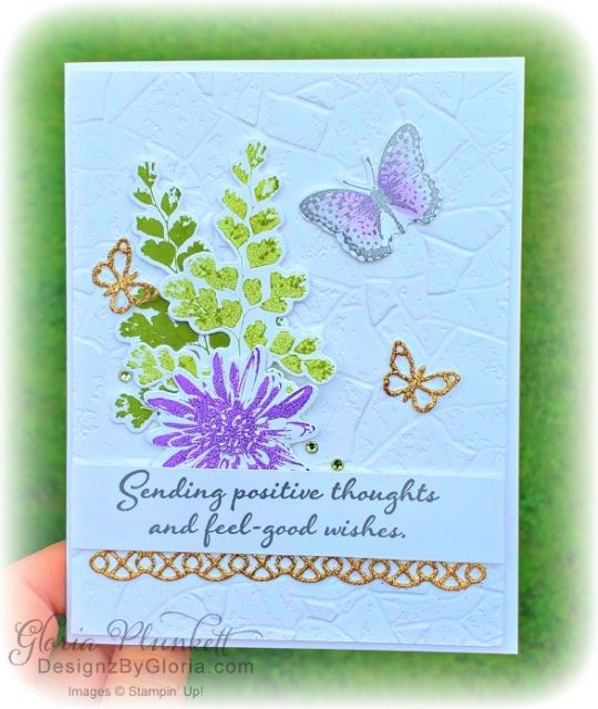 "Positive thoughts stamp set, stone 3D embossing folder, subtles embossing folder, rectangle stitched dies, saddle brown stazon ink, blushing bride cardstock, from my heart faceted gems, pear pizzazz classic ink, pleased as punch designer series paper, granny apple green cardstock, basic black cardstock, gorgeous grape cardstock, rococo rose light and dark stampin' blends, granny apple green dark and light stampin' blends, watercolor pencils, blender pen, petal pink cardstock, stitched so sweetly dies, rectangle stitched framelits, 5/8"" whisper white flax ribbon, real red rhinestones, silicone craft mat, white embossing powder, versamark ink pad, heat tool, watercolor paper, crumb cake cardstock, tear & tape, 1"" circle punch, simply scored, paper trimmer, Paper Snips, Take Your Pick Tool, Stampin' Sponges, White Chalk Marker, Stitched Rectangle Dies, sip & celebrate dies, Grid Paper, stampin sponge, perfectly plaid Stamp set, truck ride dies, shimmery crystal effects, braided linen ribbon, to every season stamp set, every season punch, gold foil paper, shaded spruce cardstock, cherry cobbler cardstock, wrapped in plaid 6 x 6 designer series paper, thick whisper cardstock, silicone craft mat, grid paper, polka dot tulle ribbon, come to gather designer series paper, splitcoaststampers, come painters, blender pens, clear wink of stella, stampin' trimmer, very vanilla cardstock, sponge daubers, dimensionals, paper snips, multipurpose liquid glue take your pick, SNAIL adhesive, stampin' up! Demonstrator, how to, diy handmade, homemade, rubber stamping, greeting card, crafts cardmaking to gathered ribbon combo pack, Tags & More Accessory kit, black stampin dimensionals, detailed trio punch, basic black cardstock, old olive classic ink, memento tuxedo black ink, black stazon ink, thick whisper white cardstock, whisper white cardstock, stamparatus, aqua painters, simply shammy shammie"
