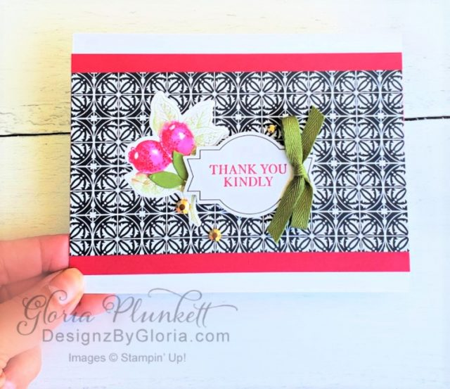"""Botanical prints stamp set, botanical prints product medley, detailed band dies, ornate layers dies, Ornate style stamp set, ornate garden specialty designer series paper, ornate layers dies, grapefruit grove cardstock, gold glitter enamel dots, coastal weave 3d embossing folder, basket weave embossing folder, a wish for everything stamp set, word wishes dies, ornate layers dies, ornate floral 3d embossing folder, ornate garden ribbon, ornate garden specialty designer series paper, best dressed 6"""" x 6"""" dsp, pear pizzazz classic ink, sponge daubers, peaceful moments stamp set, subtles embossing folder, rectangle stitched dies, saddle brown stazon ink, blushing bride cardstock, from my heart faceted gems, pear pizzazz classic ink, pleased as punch designer series paper, granny apple green cardstock, basic black cardstock, gorgeous grape cardstock, rococo rose light and dark stampin' blends, granny apple green dark and light stampin' blends, watercolor pencils, blender pen, petal pink cardstock, stitched so sweetly dies, rectangle stitched framelits, 5/8"""" whisper white flax ribbon, real red rhinestones, silicone craft mat, white embossing powder, versamark ink pad, heat tool, watercolor paper, crumb cake cardstock, tear & tape, 1"""" circle punch, simply scored, paper trimmer, Paper Snips, Take Your Pick Tool, Stampin' Sponges, White Chalk Marker, Stitched Rectangle Dies, sip & celebrate dies, Grid Paper, stampin sponge, perfectly plaid Stamp set, truck ride dies, shimmery crystal effects, braided linen ribbon, to every season stamp set, every season punch, gold foil paper, shaded spruce cardstock, cherry cobbler cardstock, wrapped in plaid 6 x 6 designer series paper, thick whisper cardstock, silicone craft mat, grid paper, polka dot tulle ribbon, come to gather designer series paper, splitcoaststampers, come painters, blender pens, clear wink of stella, stampin' trimmer, very vanilla cardstock, sponge daubers, dimensionals, paper snips, multipurpose liquid glue take you"""