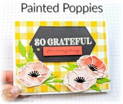 """Painted poppies stamp set, forever greenery designer series forever flourishing dies, stitched rectangle dies, ornate thanks stamp set, hammered metal 3d embossing folder, poppy moments dies, positive thoughts stamp set, layering square dies, Playful alphabet dies, Pampered pets stamp set, pet dies, whale builder punch, playful pets designer series paper, whale of a time dsp, 3/8"""" sheer ribbon, whale of a time sequins, Gold hoop embellishments, free as a bird stamp set, magenta madness cardstock, cinnamon cider cardstock, just jade cardstock, magenta madness cardstock, jar punch, ornate garden specialty designer series paper, itty bitty greetings, pear pizzazz cardstock, seaside spray cardstock, pressed petals specialty designer series paper, botanical prints product medley, detailed band dies, ornate layers dies, Ornate style stamp set, ornate garden specialty designer series paper, ornate layers dies, grapefruit grove cardstock, gold glitter enamel dots, coastal weave 3d embossing folder, basket weave embossing folder, a wish for everything stamp set, word wishes dies, ornate layers dies, ornate floral 3d embossing folder, ornate garden ribbon, ornate garden specialty designer series paper, best dressed 6"""" x 6"""" dsp, pear pizzazz classic ink, sponge daubers, peaceful moments stamp set, subtles embossing folder, rectangle stitched dies, saddle brown stazon ink, blushing bride cardstock, from my heart faceted gems, pear pizzazz classic ink, pleased as punch designer series paper, granny apple green cardstock, basic black cardstock, gorgeous grape cardstock, rococo rose light and dark stampin' blends, granny apple green dark and light stampin' blends, watercolor pencils, blender pen, petal pink cardstock, stitched so sweetly dies, rectangle stitched framelits, 5/8"""" whisper white flax ribbon, real red rhinestones, silicone craft mat, white embossing powder, versamark ink pad, heat tool, watercolor paper, crumb cake cardstock, tear & tape, 1"""" circle punch, simply scored"""