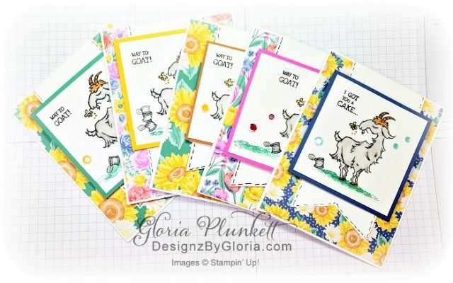 """Way to goat stamp set, high tide stamp set, peony dies, positive thoughts stamp set, layering square dies, Playful alphabet dies, Pampered pets stamp set, pet dies, whale builder punch, playful pets designer series paper, whale of a time dsp, 3/8"""" sheer ribbon, whale of a time sequins, Gold hoop embellishments, free as a bird stamp set, magenta madness cardstock, cinnamon cider cardstock, just jade cardstock, magenta madness cardstock, jar punch, ornate garden specialty designer series paper, itty bitty greetings, pear pizzazz cardstock, seaside spray cardstock, pressed petals specialty designer series paper, botanical prints product medley, detailed band dies, ornate layers dies, Ornate style stamp set, ornate garden specialty designer series paper, ornate layers dies, grapefruit grove cardstock, gold glitter enamel dots, coastal weave 3d embossing folder, basket weave embossing folder, a wish for everything stamp set, word wishes dies, ornate layers dies, ornate floral 3d embossing folder, ornate garden ribbon, ornate garden specialty designer series paper, best dressed 6"""" x 6"""" dsp, pear pizzazz classic ink, sponge daubers, peaceful moments stamp set, subtles embossing folder, rectangle stitched dies, saddle brown stazon ink, blushing bride cardstock, from my heart faceted gems, pear pizzazz classic ink, pleased as punch designer series paper, granny apple green cardstock, basic black cardstock, gorgeous grape cardstock, rococo rose light and dark stampin' blends, granny apple green dark and light stampin' blends, watercolor pencils, blender pen, petal pink cardstock, stitched so sweetly dies, rectangle stitched framelits, 5/8"""" whisper white flax ribbon, real red rhinestones, silicone craft mat, white embossing powder, versamark ink pad, heat tool, watercolor paper, crumb cake cardstock, tear & tape, 1"""" circle punch, simply scored, paper trimmer, Paper Snips, Take Your Pick Tool, Stampin' Sponges, White Chalk Marker, Stitched Rectangle Dies, sip & celebrate dies, """
